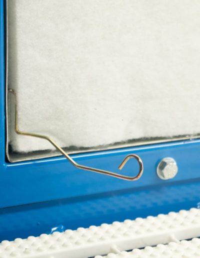 Cadre clips pour serrage filtre sur table aspirante MH-Aspirations.