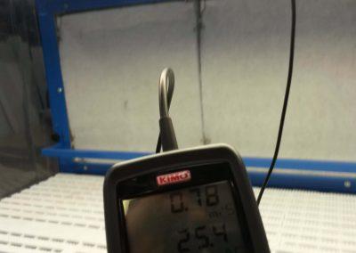 Table aspirante : mesure de la vitesse de l'air