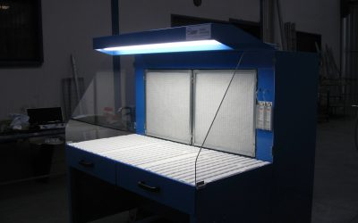Table aspirante plan de travail avec éclairage